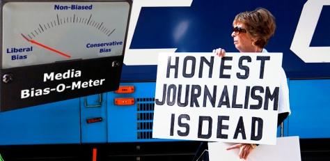 Honest journalism is dead, collage
